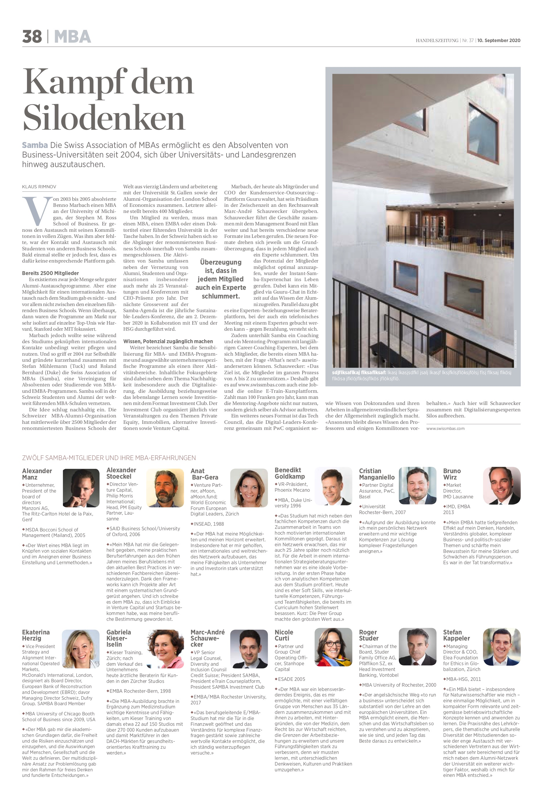 Fight the silo thinking - Kampf dem Silodenken